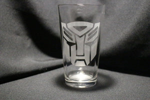 Autobot Crest Pint Glass