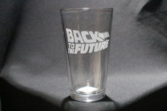 Back to the Future Inspired Pint Glass