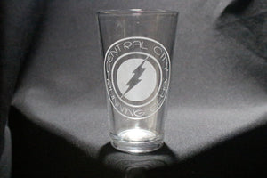 Central City Running Club Flash Inspired Pint Glass