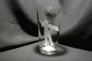 Cloud Silhouette  Inspired Pint Glass