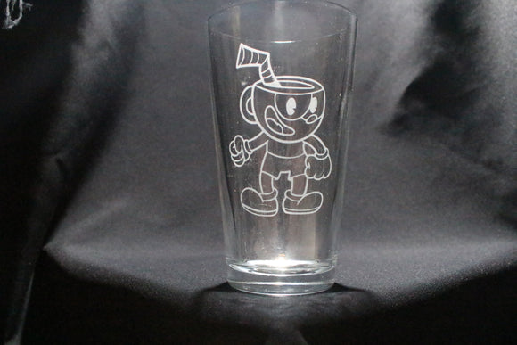 CupHead Inspired Pint Glass