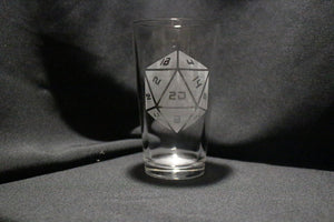 D20 Pint Glass