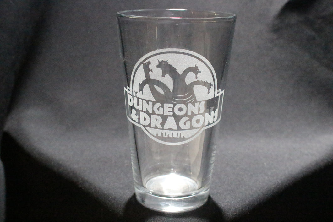 D&D Dungeons And Dragons Inspired Pint Glass
