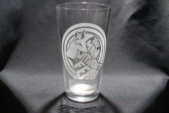 Daredevil Man Without Fear Pint Glass