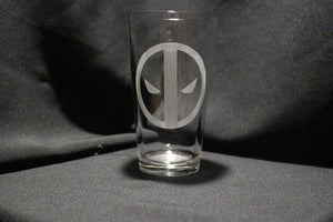 Deadpool Inspired Pint Glass