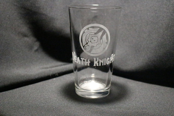 Death Knight Warcraft Inspired Pint Glass