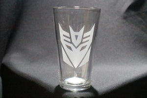 Decepticon Crest Pint Glass