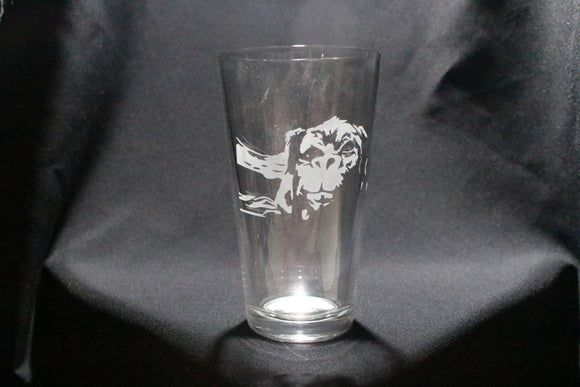 Falcor Neverending Story Inspired Pint Glass