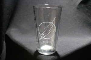 Flash Inspired Pint Glass