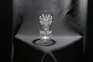 Haunted Masion Inspired Foolish Mortal Wallpaper Pint Glass