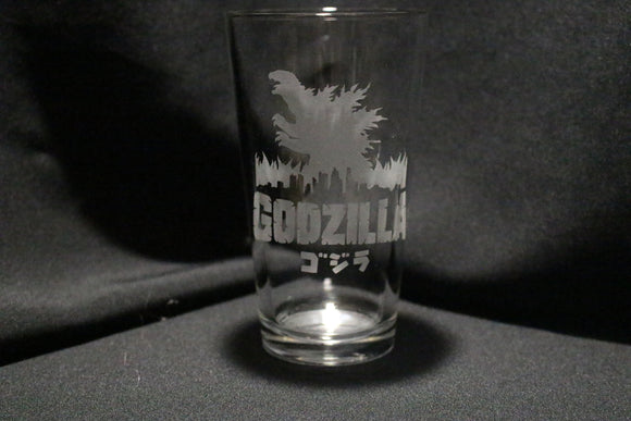 Godzilla Pint Glass