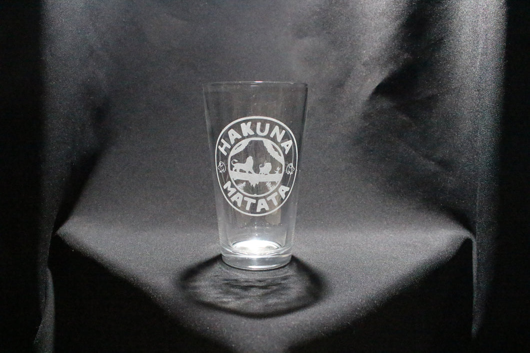 Hakuna Matata Lion King Inspired Pint Glass