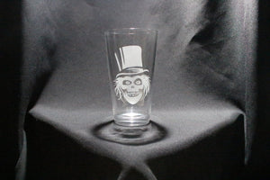 Haunted Mansion Inspired Hat Box Ghost Pint Glass