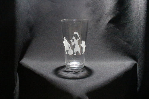 Haunted Mansion Inspired Hitch Hiking Ghosts Pint Glass