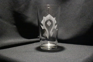 Horde Inspired Pint Glass WOW