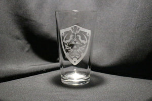Hyrule Shield Inspired Pint Glass