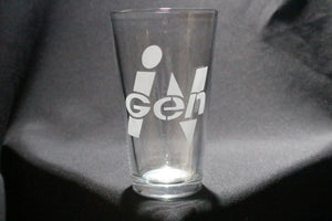 Ingen Jurassic Park Inspired Pint glass