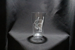 Invader Zim GRR Pint glass