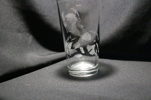 Iron Man Inspired Silhouette Pint Glass
