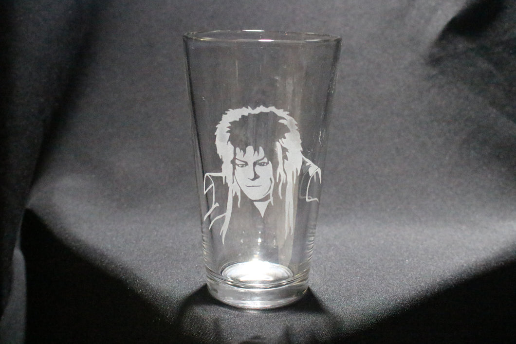 Jareth Inspired David Bowie Pint Glass