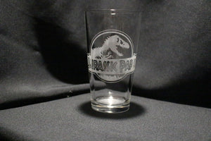 Jurassic Park Inspired Pint Glass