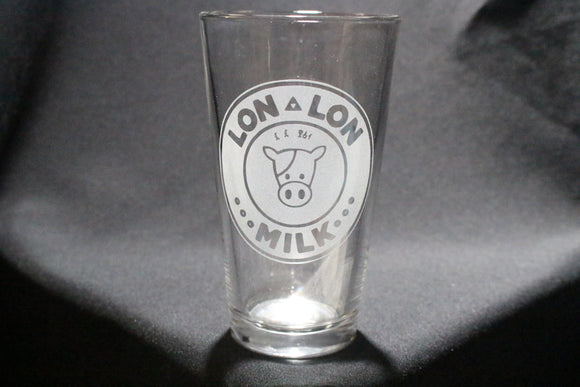 Lon Lon Milk Inspired Pint Glass
