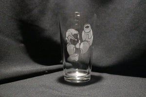 Megaman Inspired Pint glass