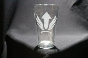 Mercy Inspired Spray Pint Glass