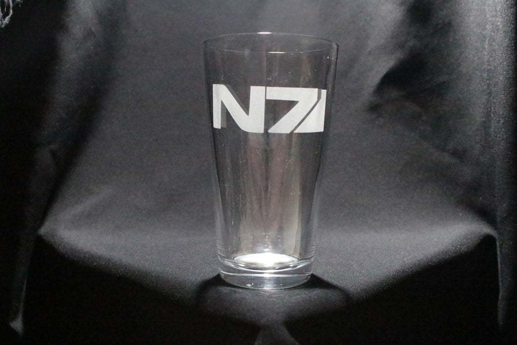 N7 Mass Effect Inspired Pint Glass