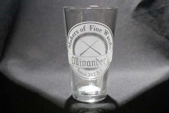 Ollivander's Inspired Pint Glass