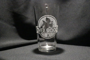 Over 9k Dragonball Inspired Pint Glass