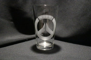 Overwatch Inspired Pint glass