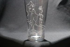 Poison Ivy Inspired Pint Glass