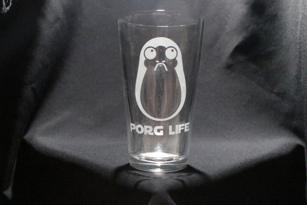 Porg Life Pint Glass