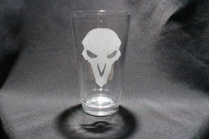 Reaper Spray Inspired Pint Glass