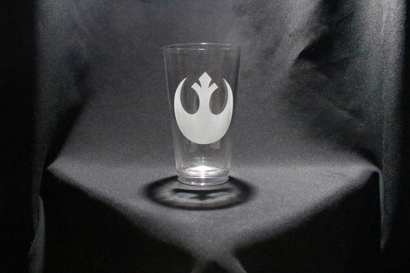 Rebel Inspired Pint glass