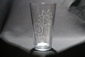 Rick And Morty Inspired Pint Glass