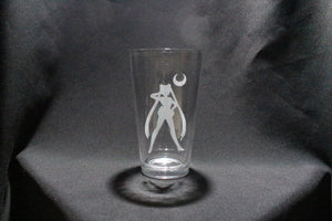Sailor Moon Silhouette Inspired Pint Glass