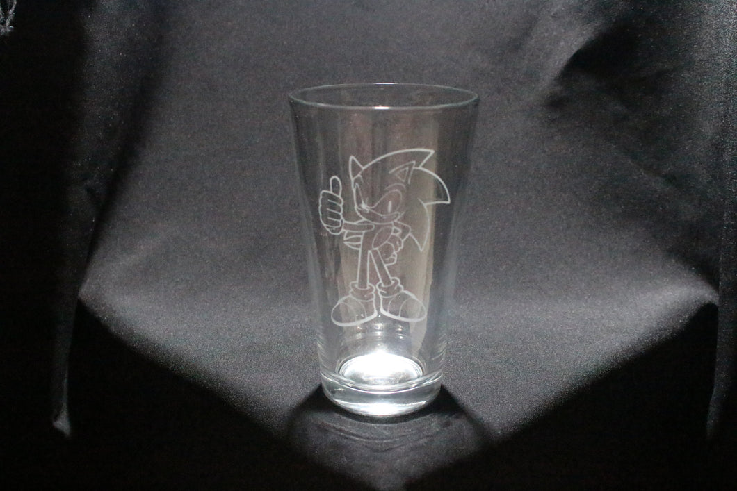 Sonic Inspired pint glass