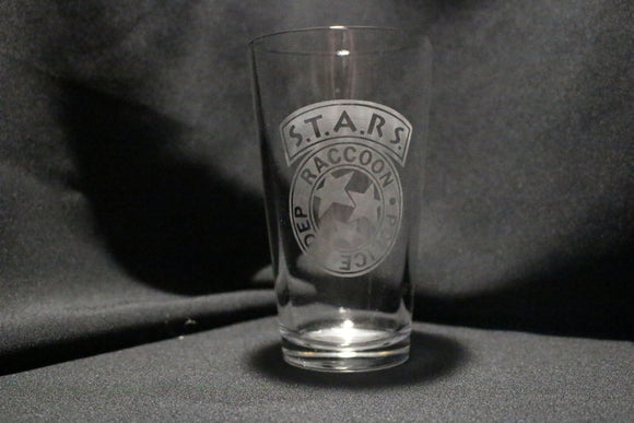 Resident Evil Stars Inspired Pint Glass