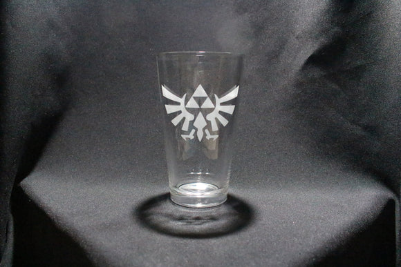 Triforce Hyrule Crest Inspired Pint Glass