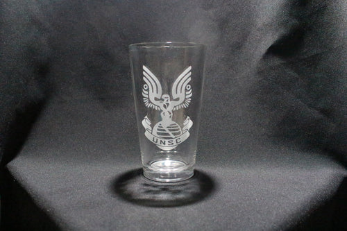 UNSC Halo Inspired Pint Glass