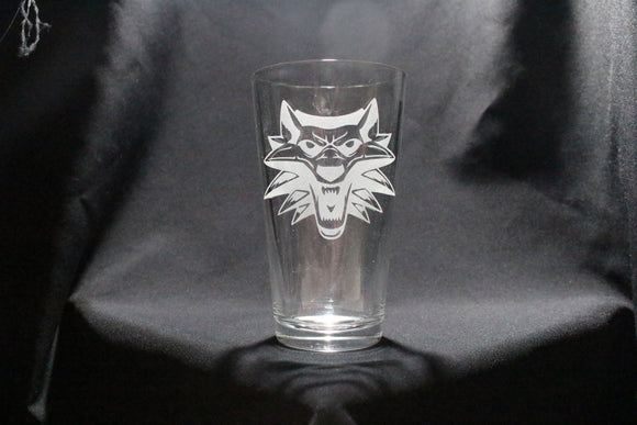 Witcher Inspired Pint Glass