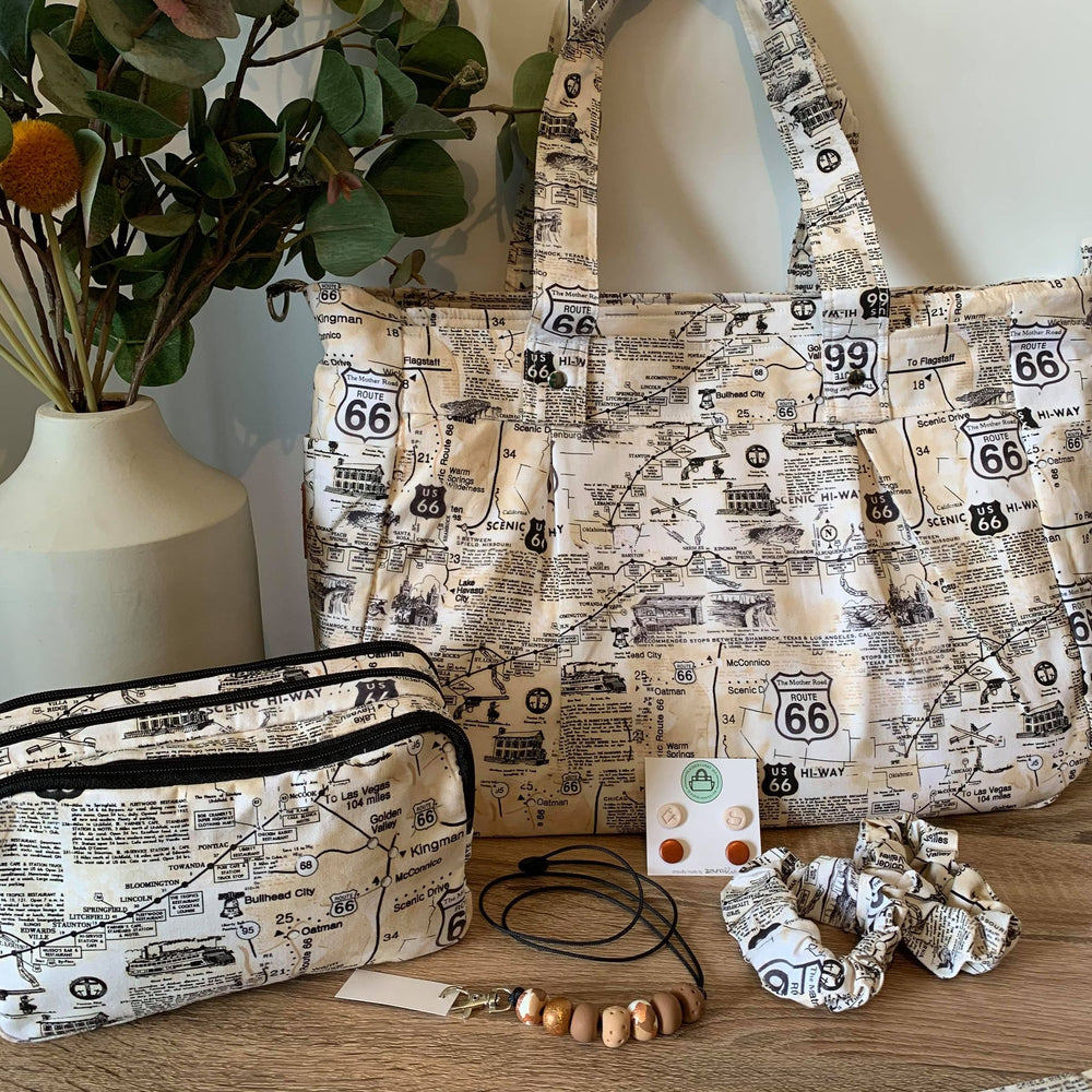 Route 66 Collection Limited Ed Mini Release - Teacher Carry All bag A4 Polished Cotton