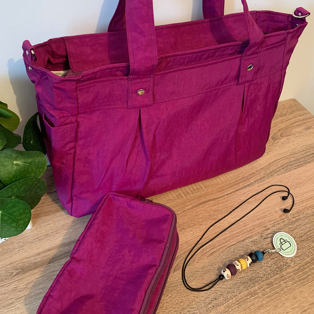Blackcurrant Magenta Teacher Carry All bag, Teacher bag -A3 Water Resistant
