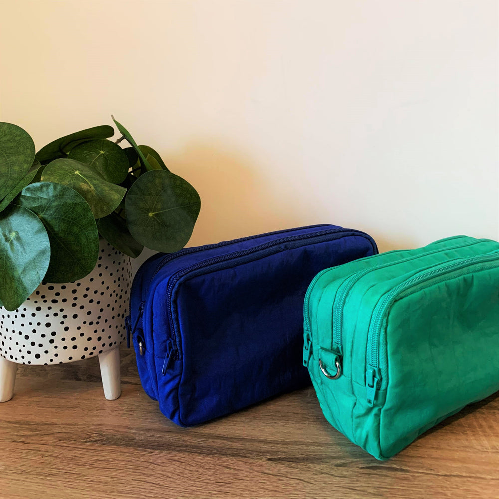Royal Blue 3 pocket Mini Teacher Bag, Pencil Case, duty bag, toiletry bag