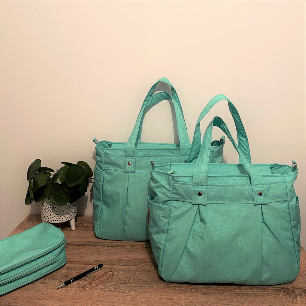 Mint Green limited edition A4 Teacher Carry All bag - water resistant fabric