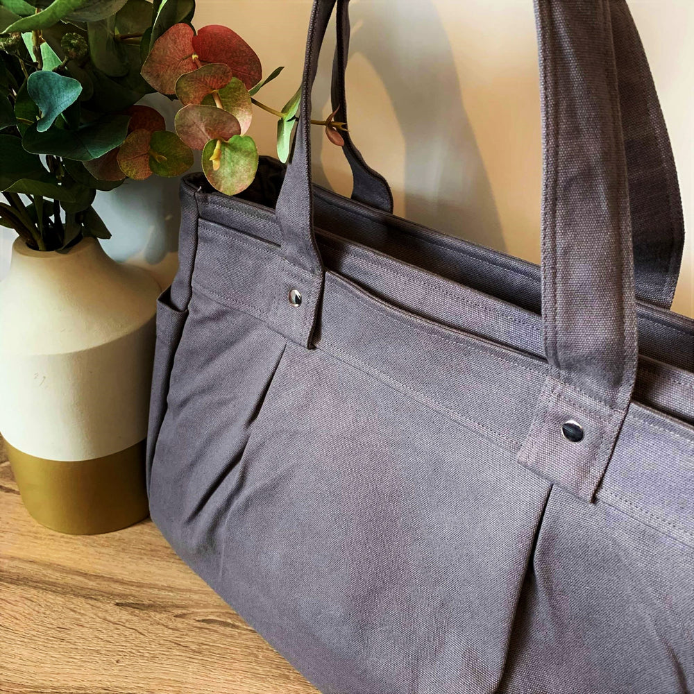 Grey A3 Teacher Carry All bag in cotton canvas - Teacher Carry All