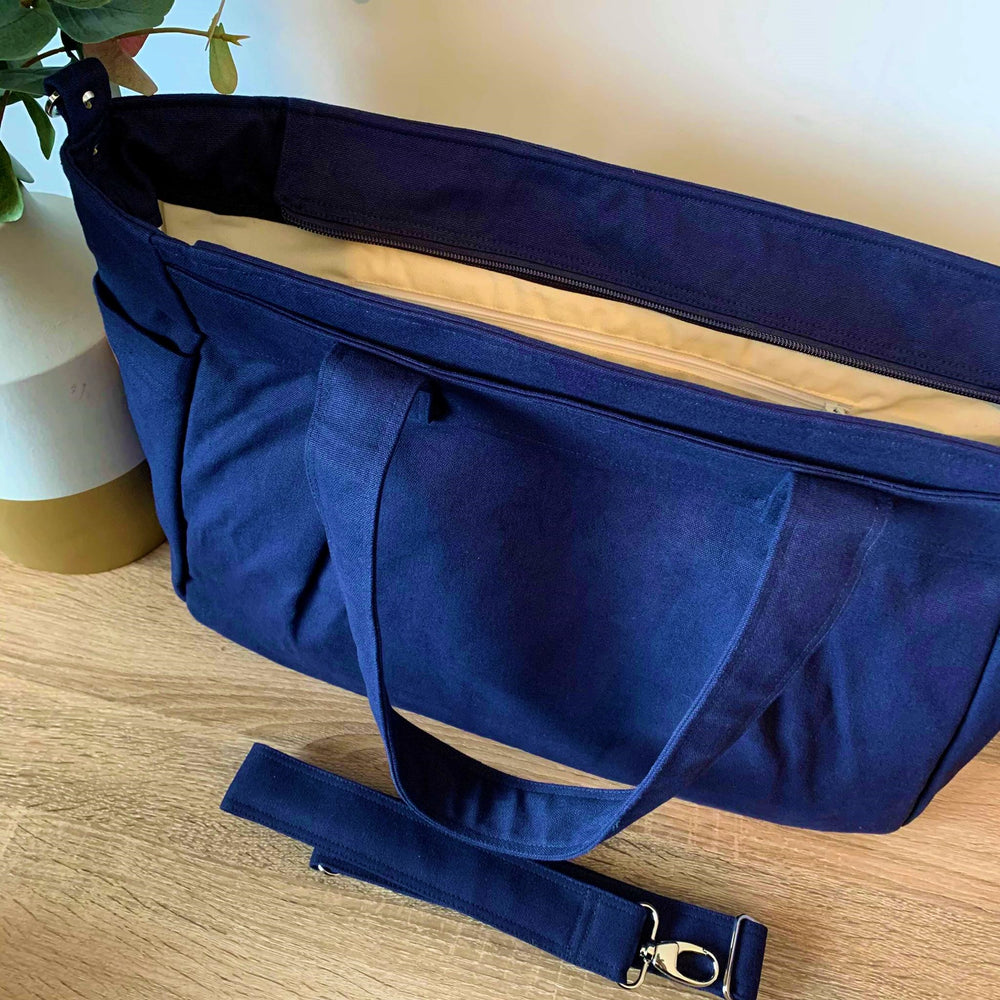 Navy Teacher Carry All bag in water resistant A3 capacity - Teacher Carry All