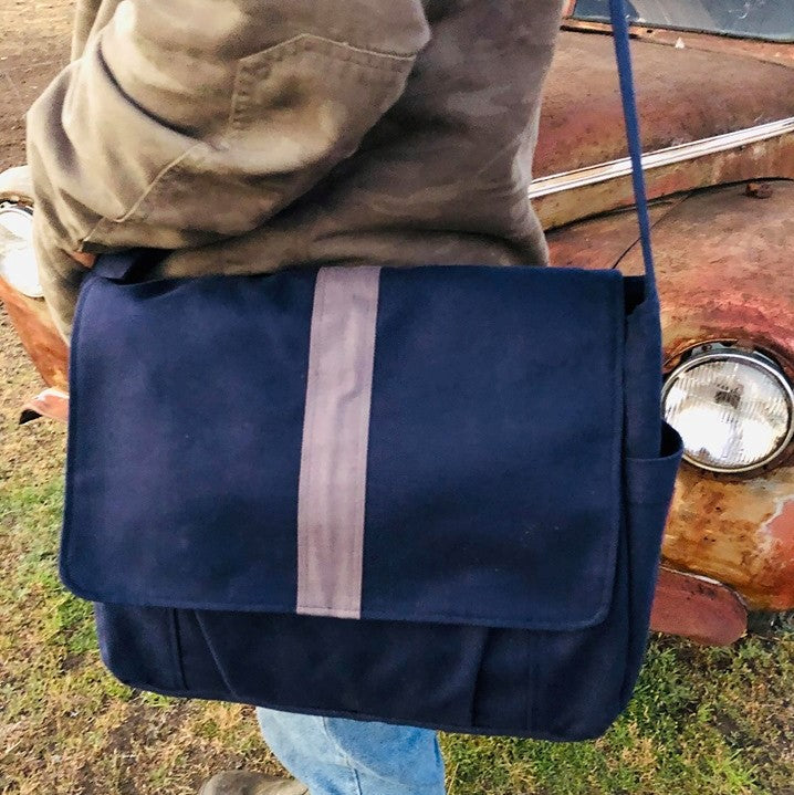 "Men's work bag, Messenger bag, Satchel, laptop bag,student bag, teacher bag - ""Stu"" - Teacher Carry All"